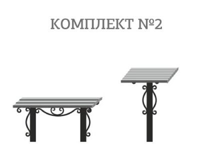 Столики и скамейки с полимерной доской №2