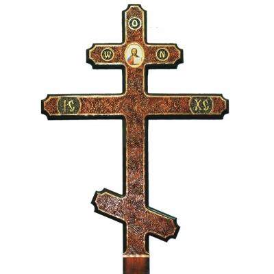 Крест лиственница №25 (художественный прямой)